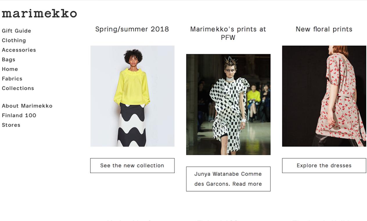 芬兰时尚品牌Marimekko 公布前9个月财报,销售额和营业利润双增长