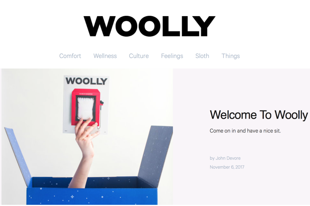 不只是一家床垫公司!互联网床垫品牌 Casper 推出纸质生活方式杂志《Wolly》(一页广告也没有!)