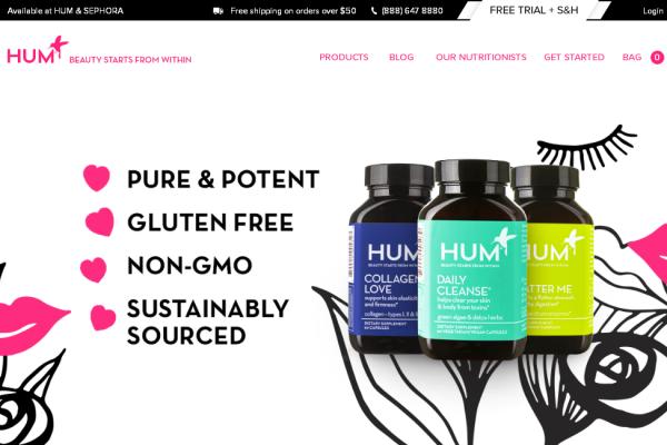 美容营养补剂制造商 HUM Nutrition 完成500万美元 A轮融资