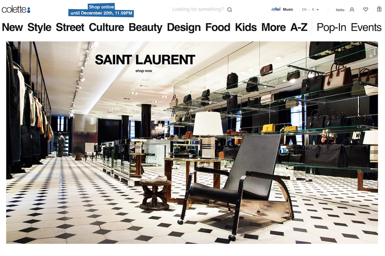 Saint Laurent 联手日本艺术家荒木经惟,为巴黎精品买手店 Colette 举办关门前最后的展览