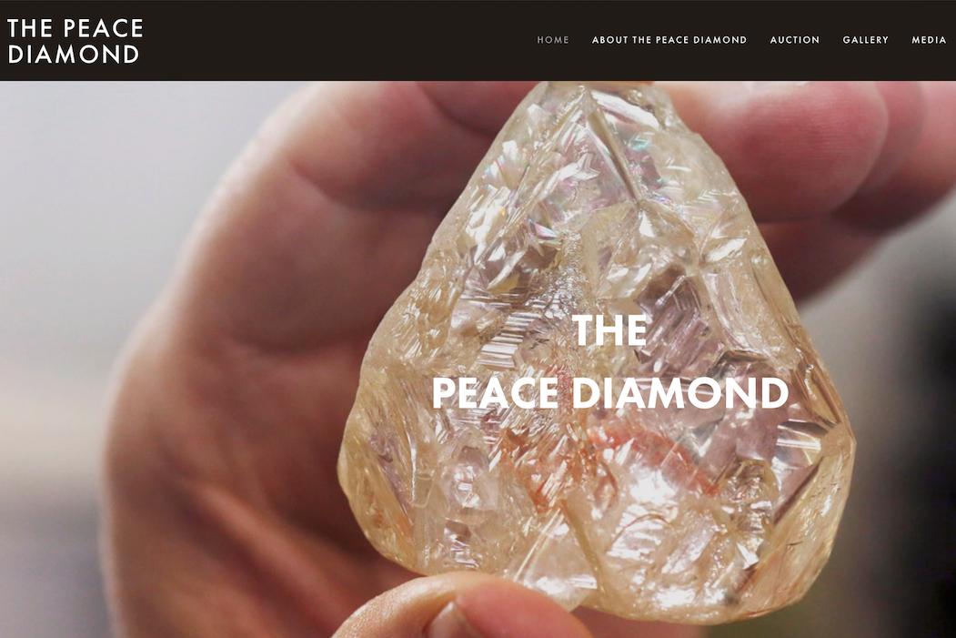 """英国珠宝商 Laurence Graff 630万美元拍下塞拉利昂首颗公共拍卖钻石原石""""和平钻"""""""