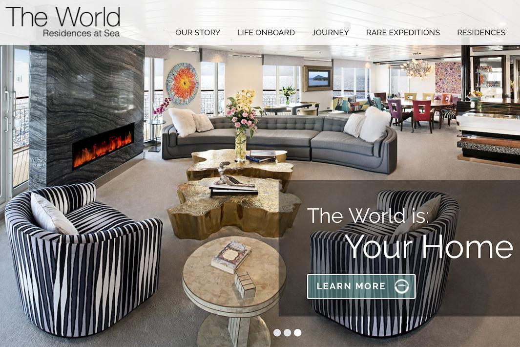 """全球最贵最难买的房产:""""漂泊在大海上""""的公寓 The World"""