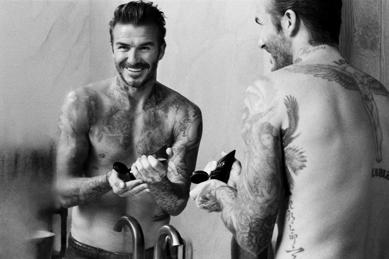 """贝克汉姆联手欧莱雅集团推出个人男士理容品牌 House99(""""99""""源自他手上的纹身数字)"""