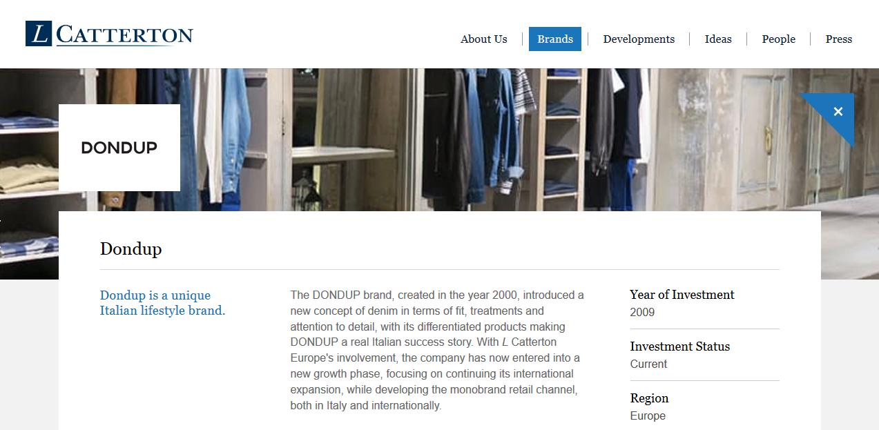 L Catterton 控股的意大利高端商务休闲服饰品牌 Dondup 拓展童装线,加速国际化进程