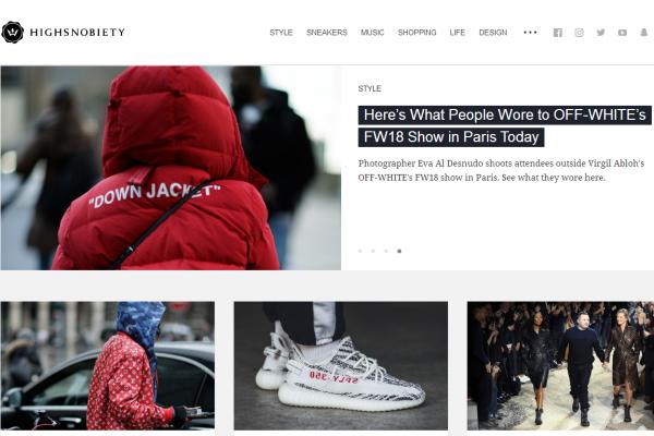 从运动鞋博客到时尚潮流资讯平台:德国网站Highsnobiety完成850万美元首轮外部融资
