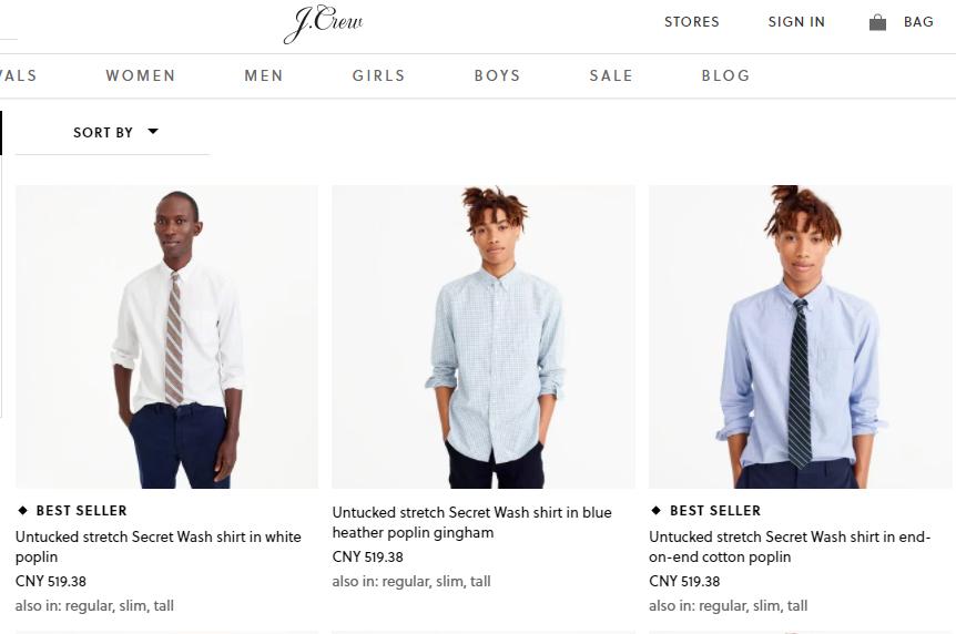 """困则思变,J. Crew 效仿创业公司以""""解决问题""""为先,推出短下摆男士衬衫"""