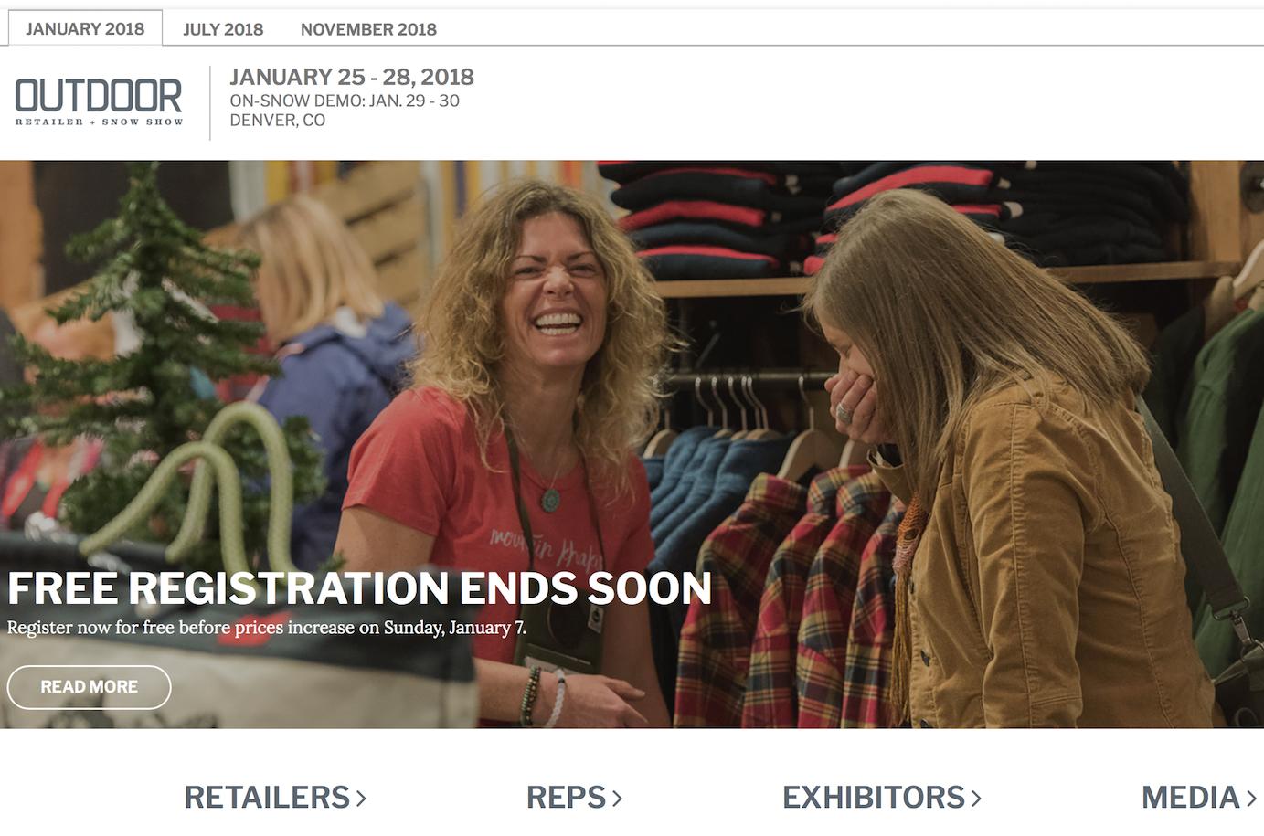 美国户外和滑雪两大知名行业展会合并,举办30年来最大行业贸易展 Outdoor Retailer & Snow Show