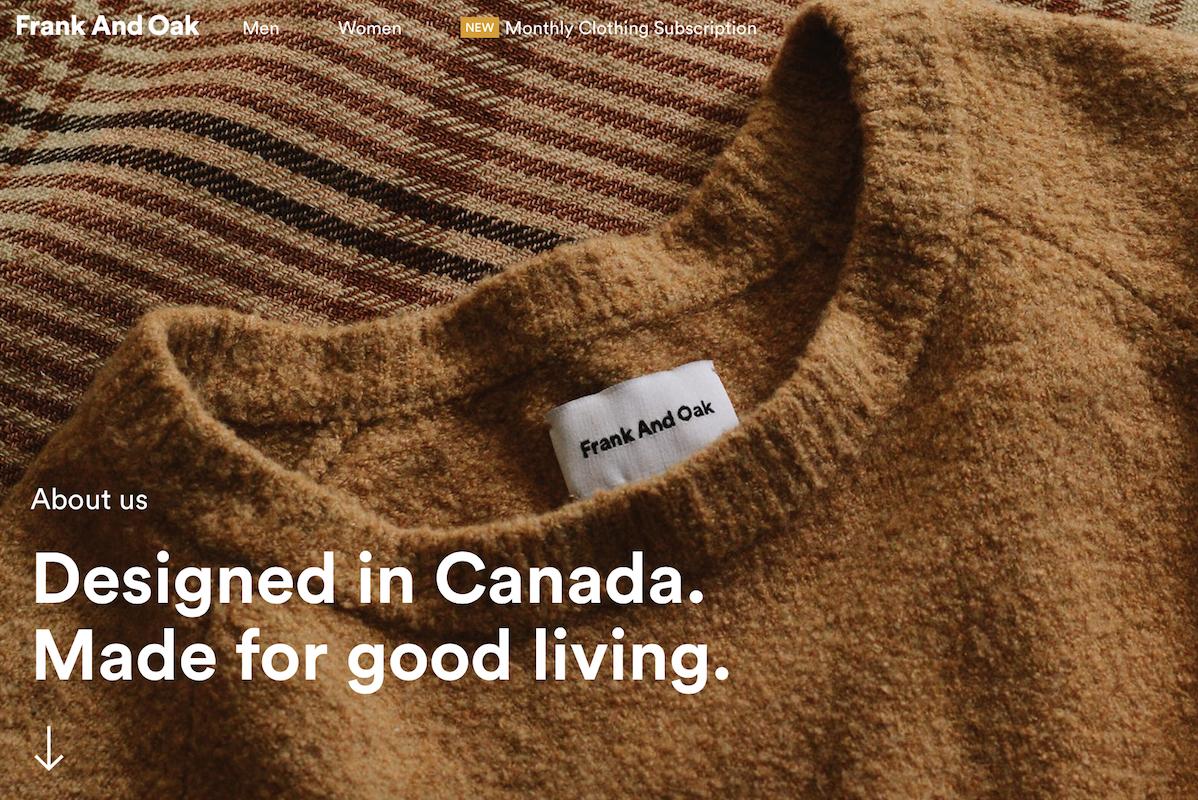 加拿大互联网时尚品牌Frank and Oak完成1600万美元融资