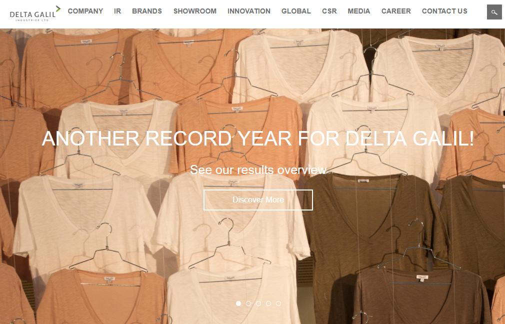 以色列服装制造商 Delta Galil 公布2017财年报告,销售利润等多项数据创新高