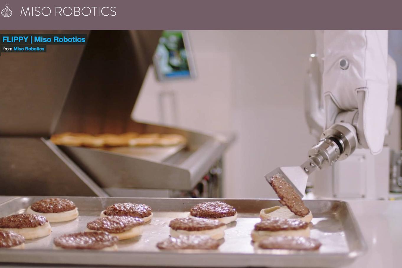 Miso Robotics 完成 1000万美元B轮融资:开发人工智能驱动的煎汉堡肉机器人