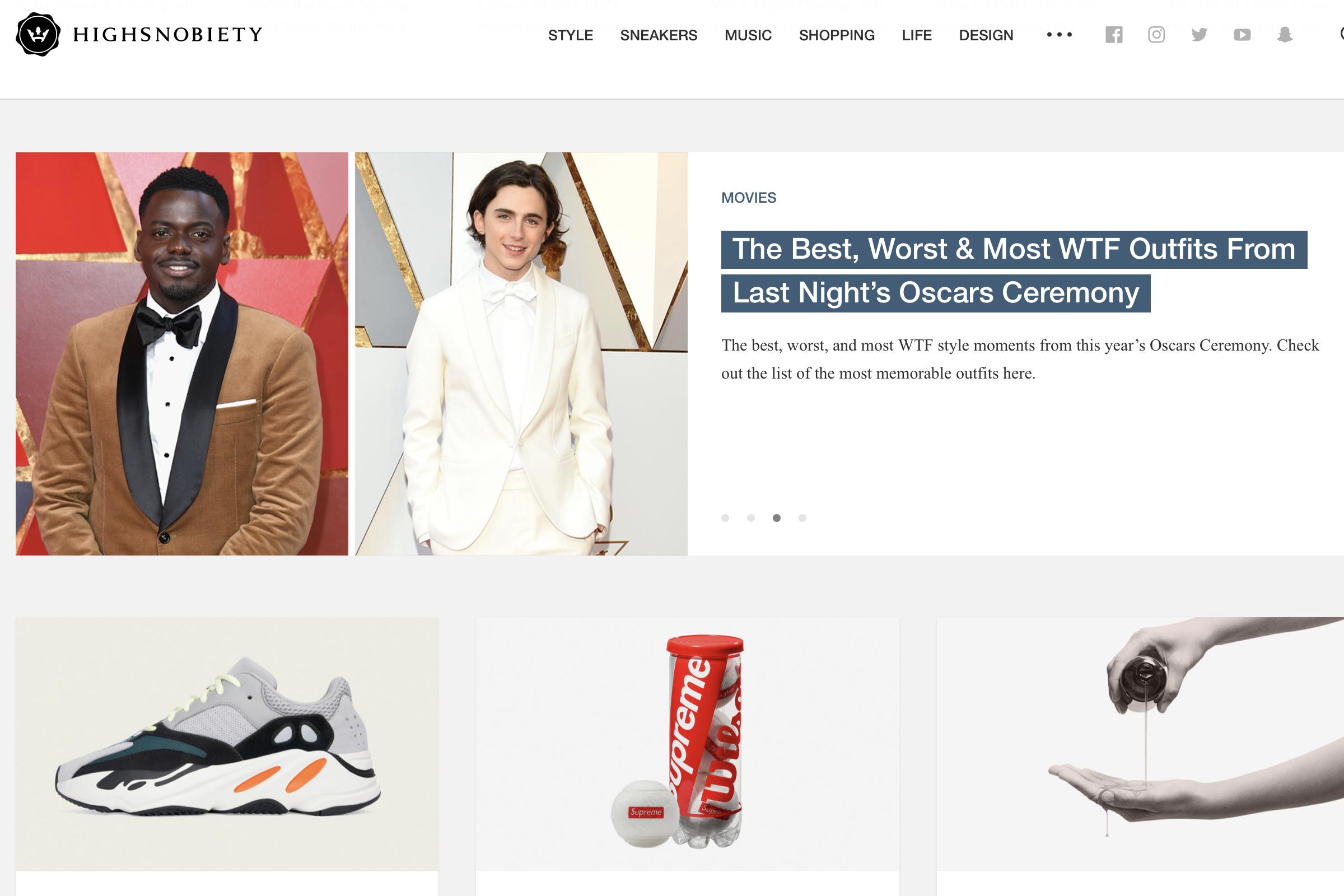 德国潮流时尚网站 Highsnobiety 计划将电商营收占比提高到30%