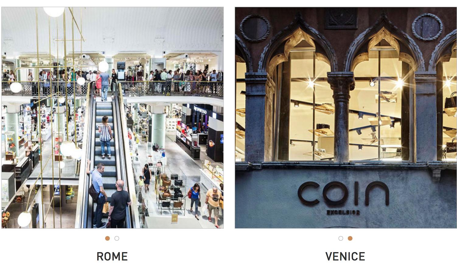 私募基金 BC Partners 出售意大利最大百货集团 Gruppo Coin,由后者管理团队成立新公司接手