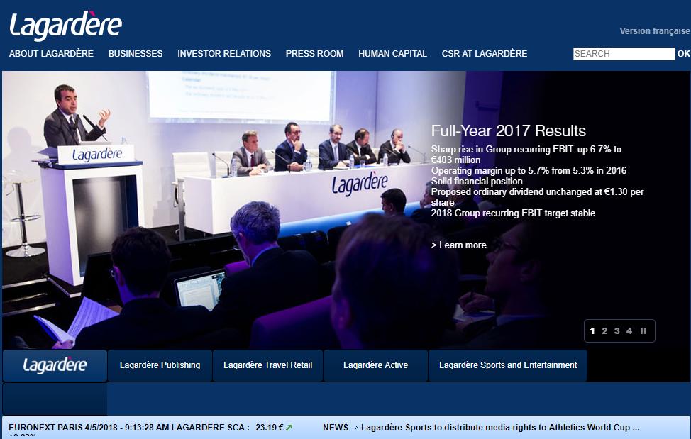 法国媒体巨头 Lagardère 计划出售旗下法国版《ELLE》杂志等传统业务,精简投资组合