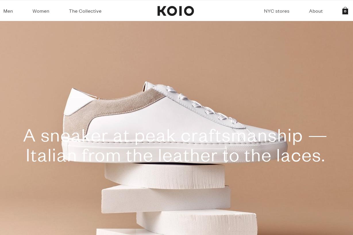 由为Chanel供货的意大利鞋匠打造,手工皮制运动鞋初创品牌 Koio 完成A轮融资300万美元