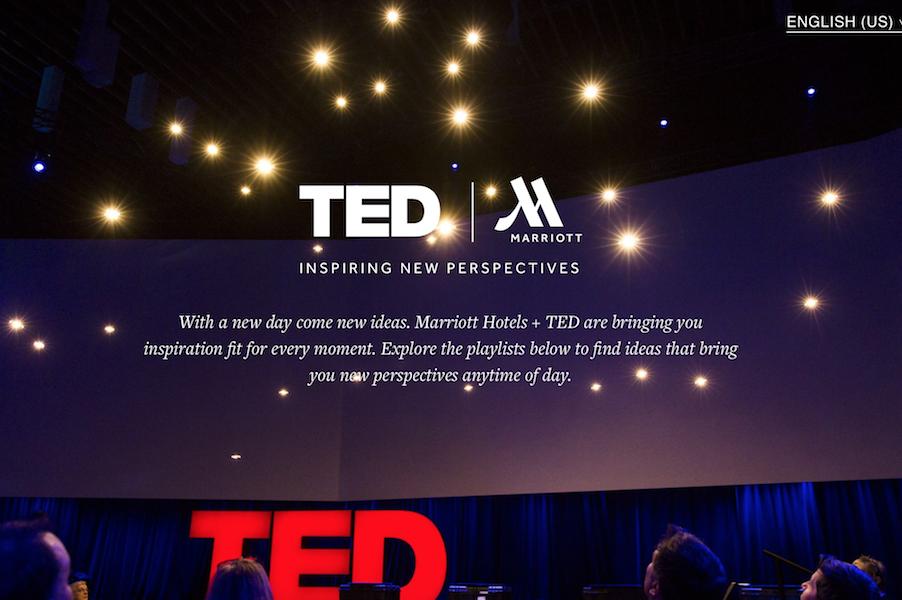 万豪酒店集团与 TED 深度合作,推出更多创新节目