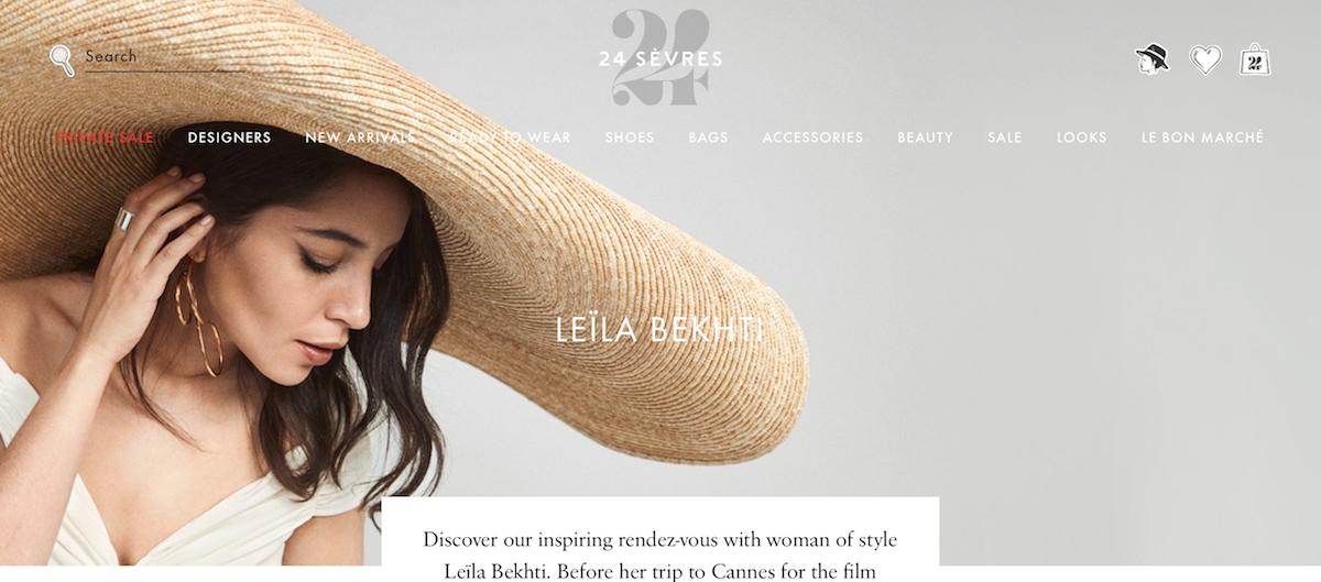 LVMH 旗下奢侈品电商网站 24 Sèvres 全新内容版块