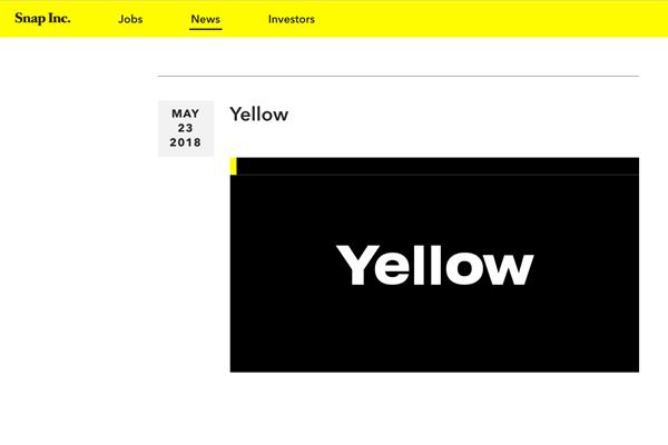 移动社交软件 Snapchat 的母公司推出移动媒体加速器项目:Yellow