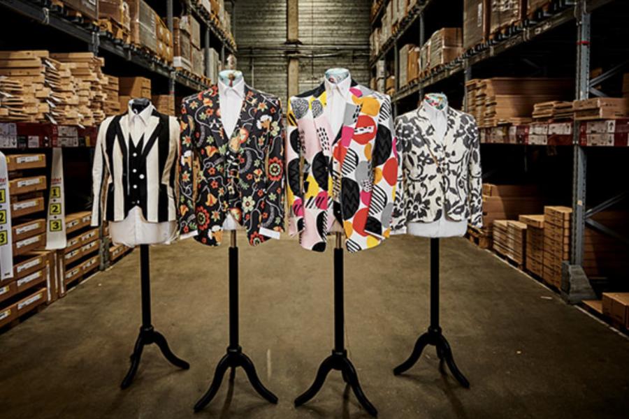 宜家联手伦敦高级定制男装裁缝,推出用家居布艺面料制成的西装三件套