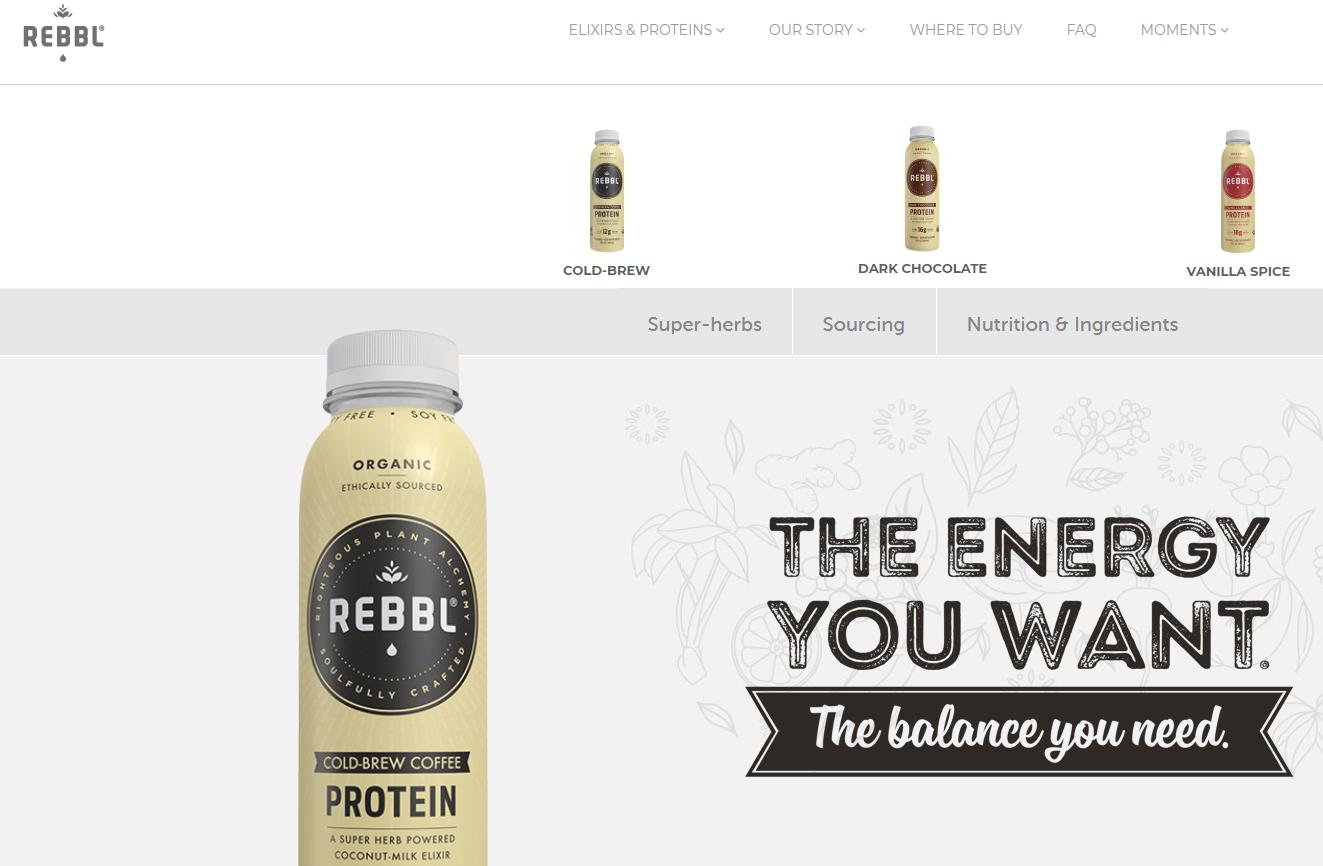 超级草本功能性饮料品牌 REBBL 完成 2000万美元融资