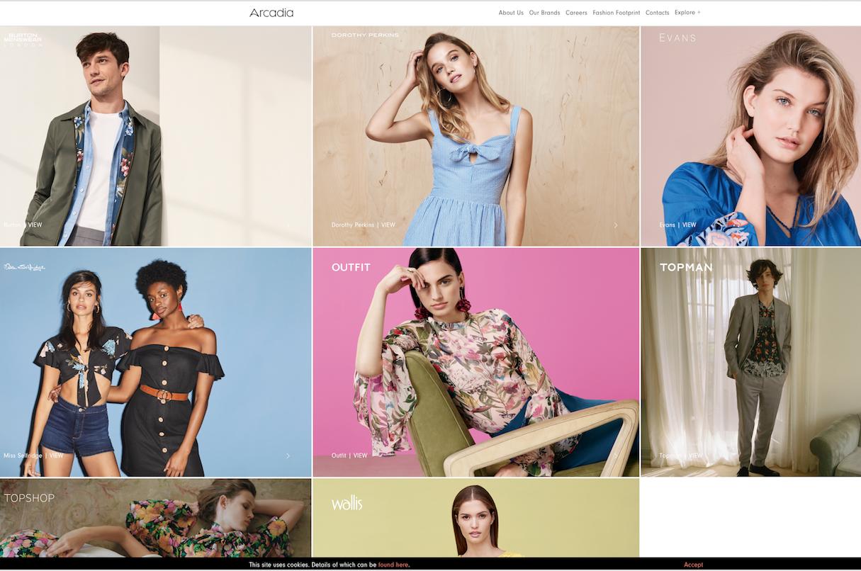 Topshop母公司、英国时尚零售集团Arcadia上财年销售额利润双下滑,线上销售额两位数增长
