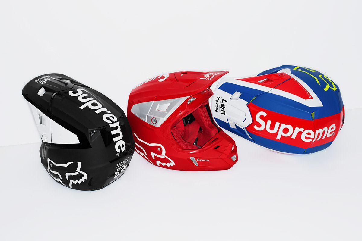 纽约著名街头潮牌 Supreme 与极限运动品牌 Fox Racing 推出联名越野摩托装备系列