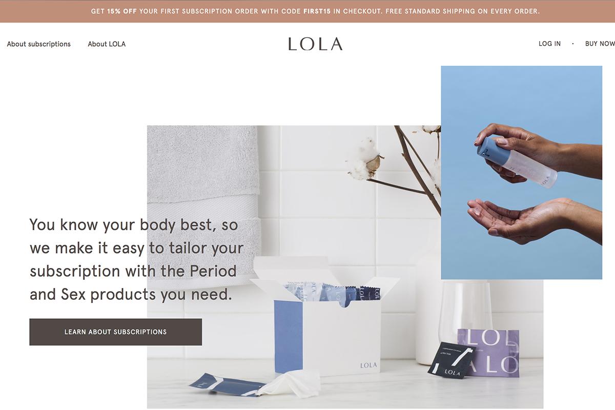 按月订购100%纯棉有机卫生棉条!女性护理公司 LOLA 完成2400万美元 B轮融资