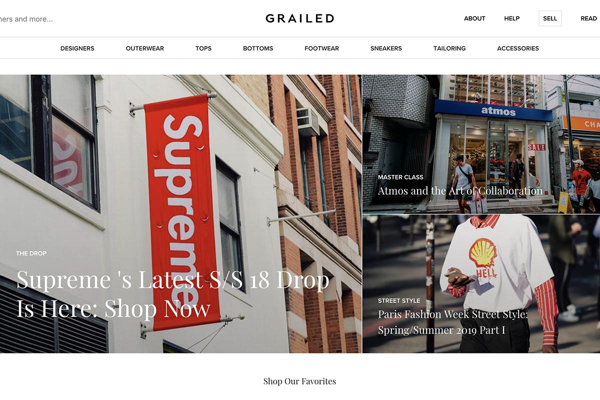 二手奢侈品男装交易网站 Grailed 完成1500万美元 A 轮融资
