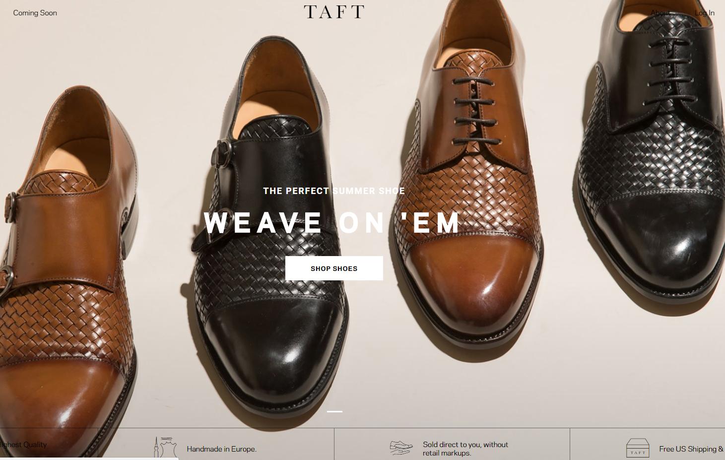 互联网轻奢男鞋品牌 TAFT 完成500万美元种子轮融资,NBA明星韦德参投