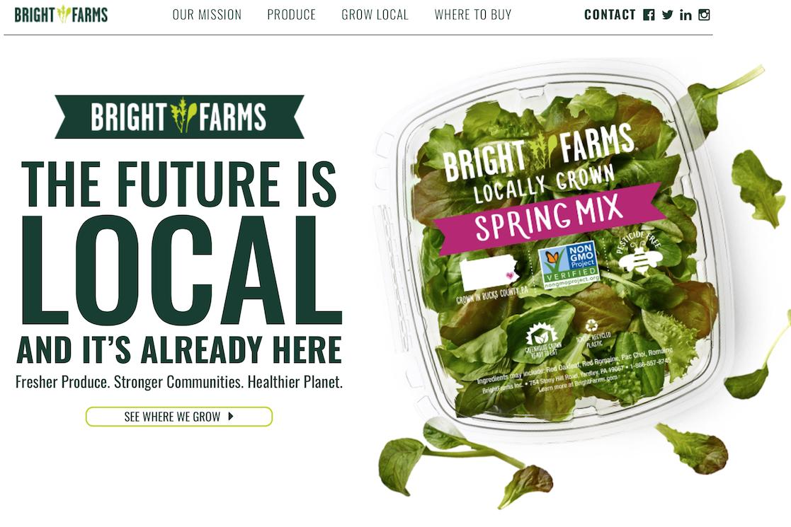 纽约屋顶菜园供应商 BrightFarms 完成5500万美元D轮融资
