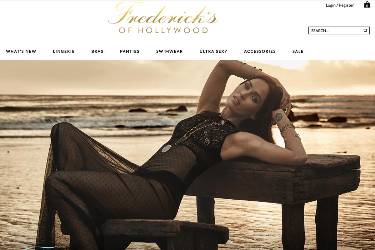 起死回生的美国老牌内衣 Frederick's of Hollywood 联手美国女星 Megan Fox 为新品造势