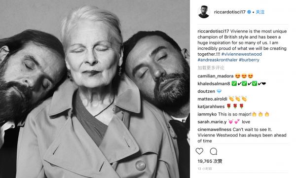 Riccardo Tisci 加盟 Burberry 后新动作:将携手朋克时尚鼻祖 Vivienne Westwood 推出合作系列