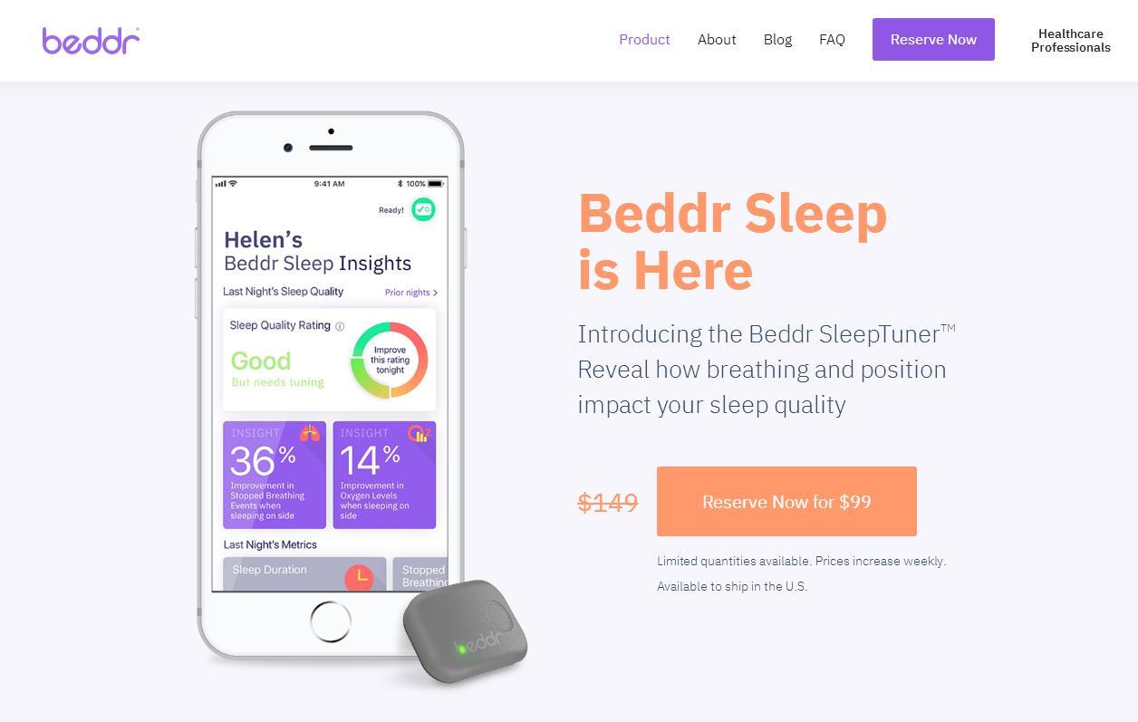 美国睡眠软件初创公司 Beddr 完成560万美元的 A轮融资