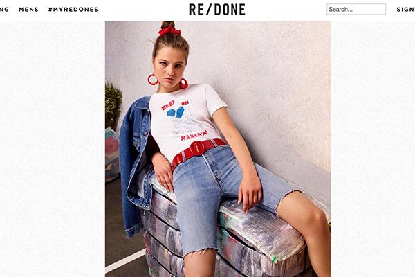 用旧牛仔裤做新衣:美国互联网奢侈牛仔品牌 RE/DONE 获得意大利私募基金支持