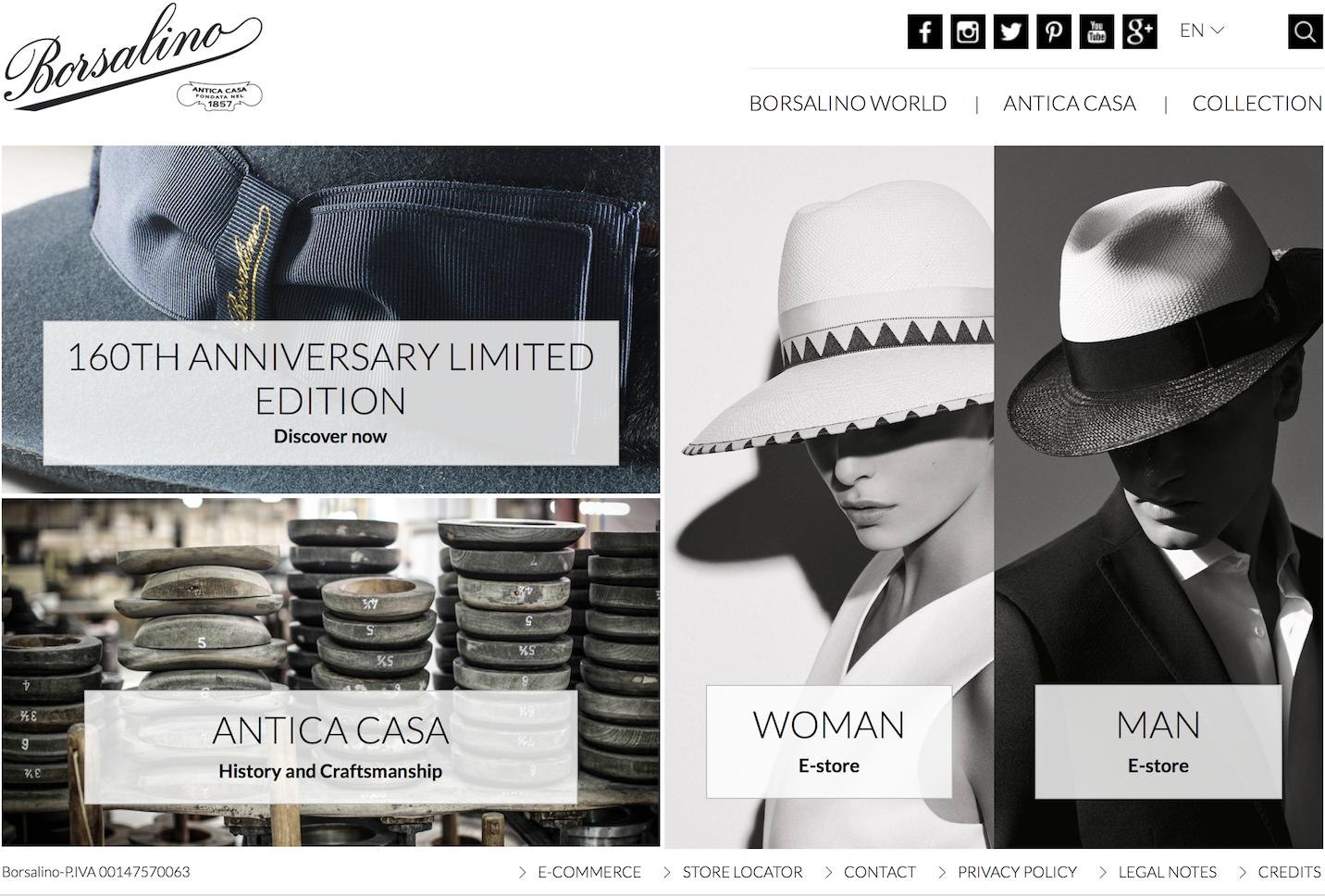 山本耀司最爱的帽子得救了!濒于破产的意大利老牌制帽商Borsalino 被私募基金收购