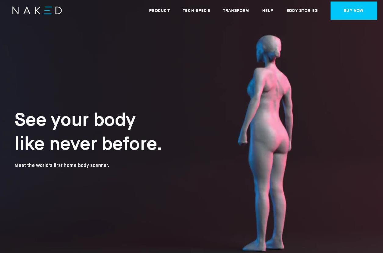 Naked Labs 推出世界首款家用3D身体扫描仪,并完成 1400万美元A轮融资