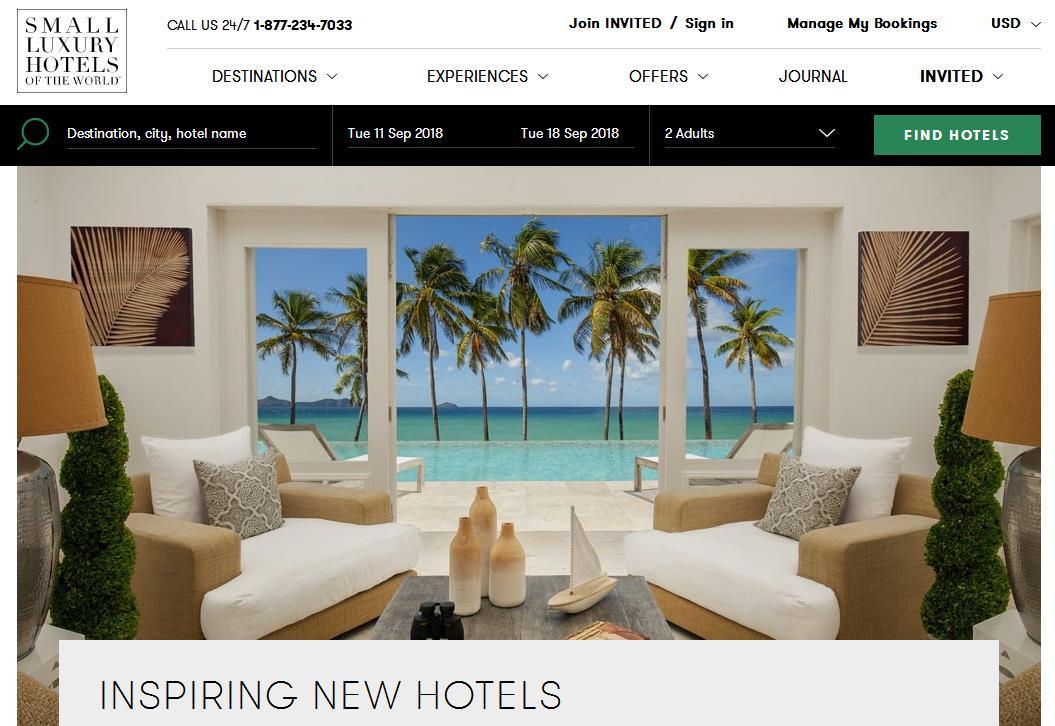 凯悦酒店与精品酒店联盟Small Luxury Hotels of the World 达成合作,会员将可以直接预订后者旗下酒店