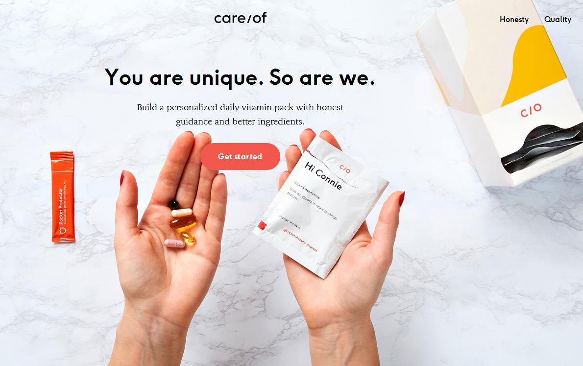 一年内销售增长7倍,个人营养品定制初创公司 Care/of 完成高盛领投的2900万美元B轮融资