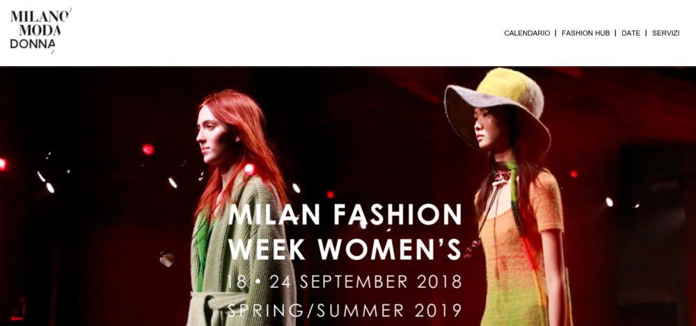 2018年9月米兰时装周女装展初版日程公布