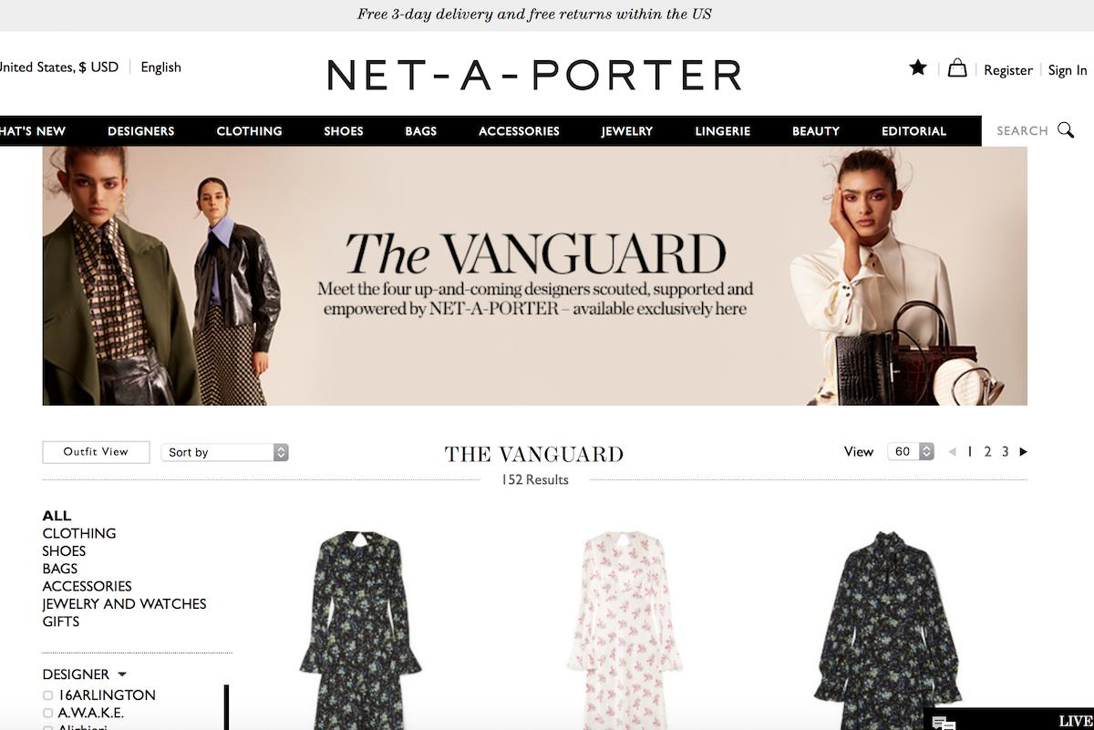 英国奢侈品电商Net-a-Porter 将推出设计师孵化平台 Vanguard