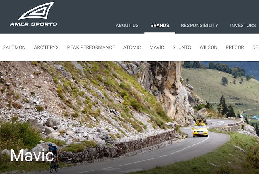始祖鸟母公司 Amer Sports 宣布五大战略方向,或将出售旗下自行车装备和服装品牌 Mavic
