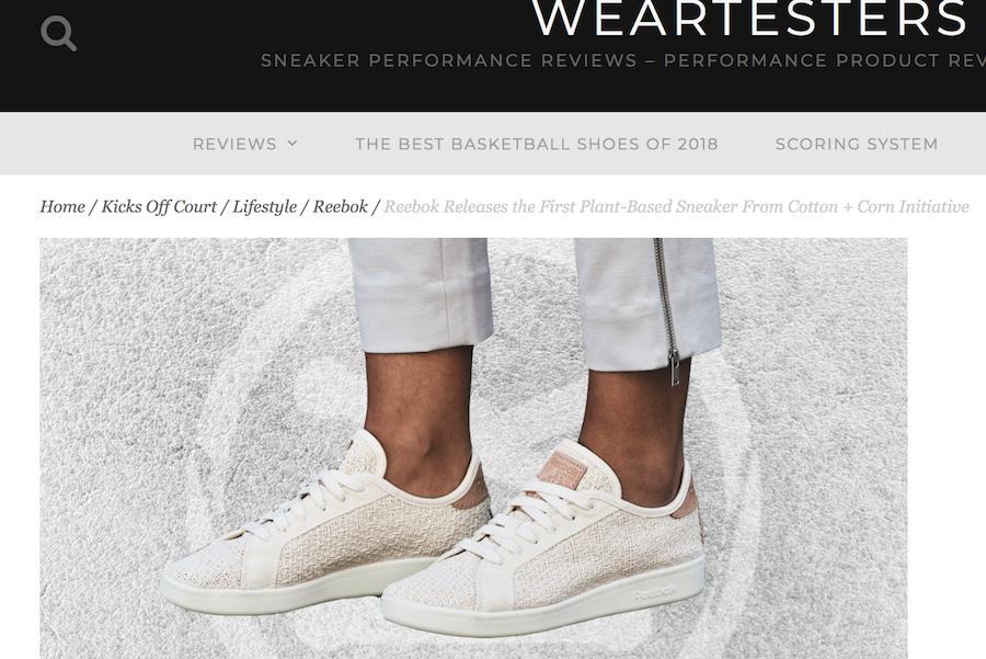 "Reebok 推出天然环保运动鞋:75%的原料来自""棉花,玉米和蓖麻籽油"""