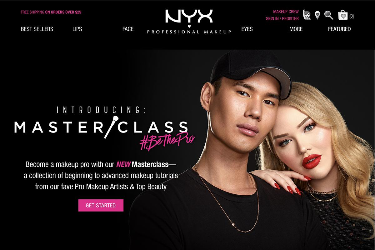 美国彩妆品牌 NYX 推出线上美妆教学资源库 Masterclass ,旨在向所有消费者教授专业美妆知识