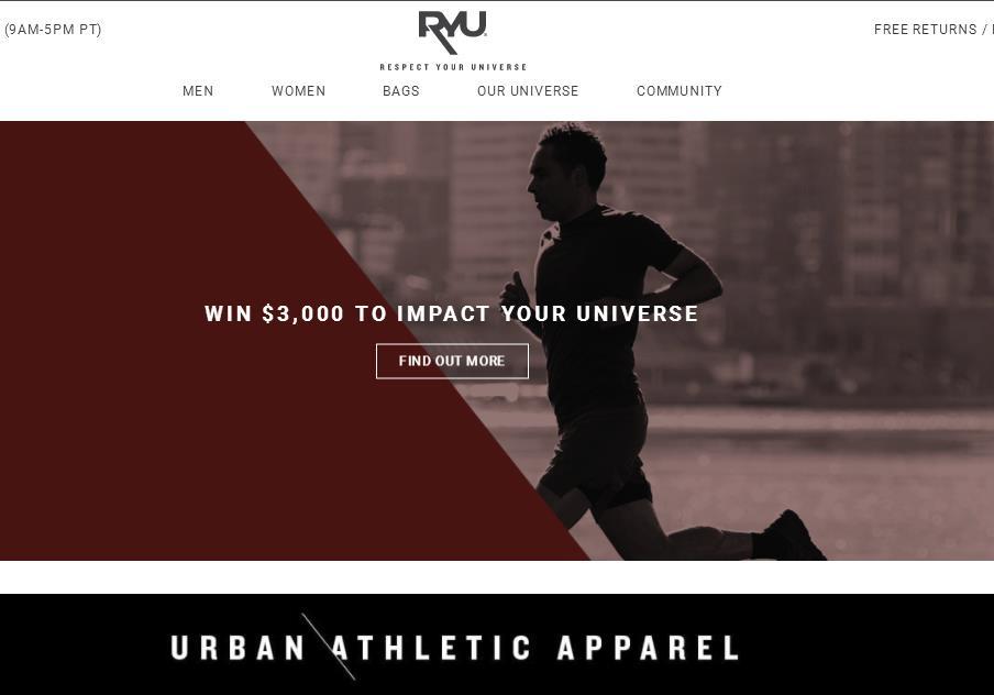 加拿大运动时尚品牌 RYU 公布2018上半财年财务数据:销售额同比大增85%