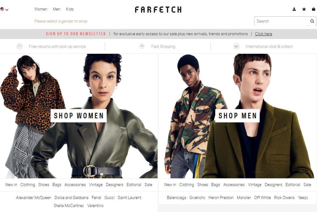 英国奢侈品电商 Farfetch公布 IPO细节:市值不低于50亿美元,开云集团大股东有意重金投资