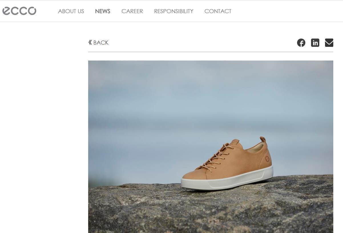 丹麦皮具鞋履品牌 Ecco 推出新型环保鞣革技术,制作一张牛皮可节约20升水
