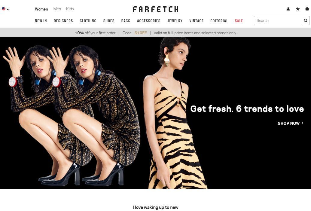 英国奢侈品电商平台 Farfetch 上市首日股价大涨42.3%,市值超过80亿美元