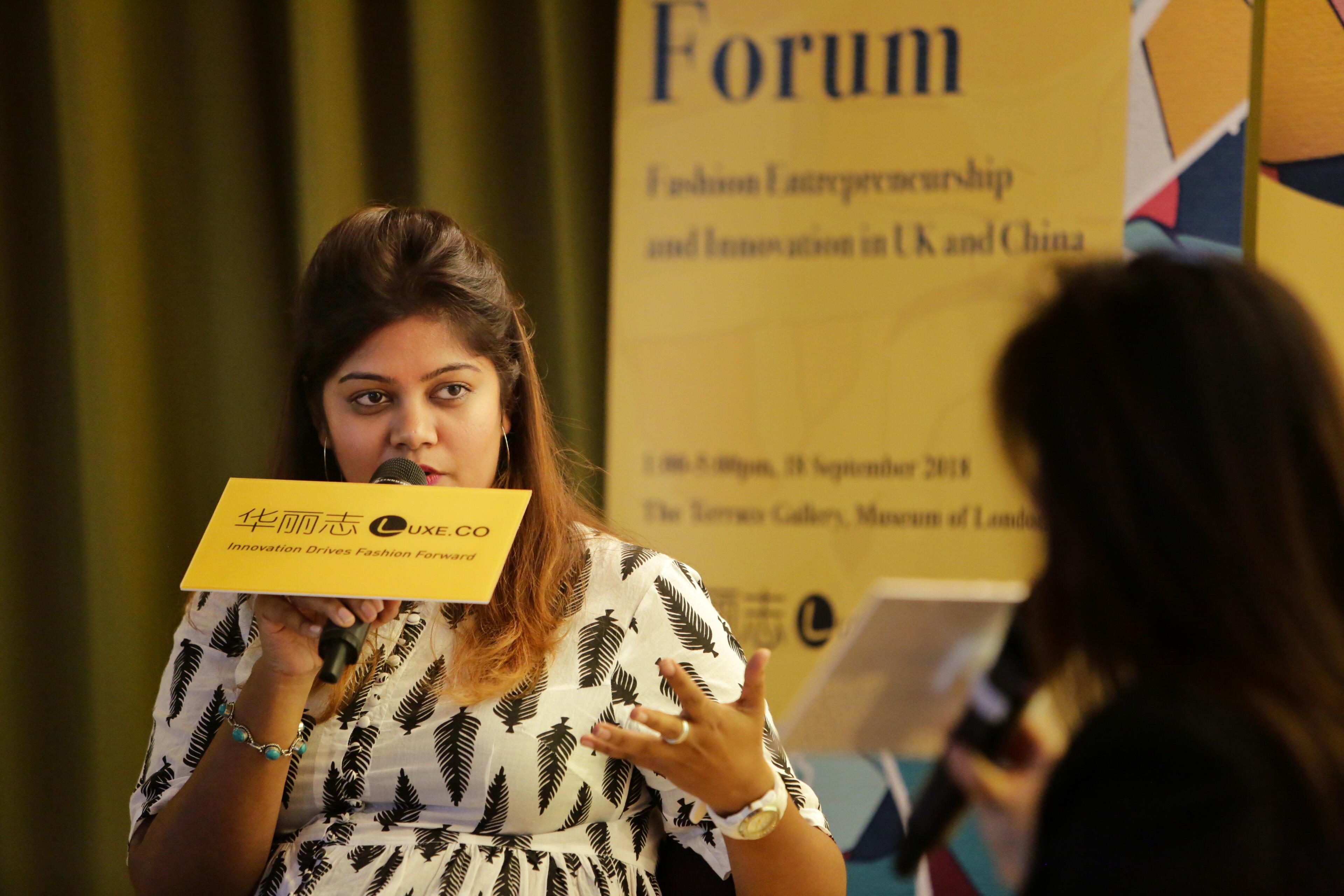 华丽志伦敦论坛 对话伦敦时尚商业孵化器 CFE 项目主管 Ishwari Thopte