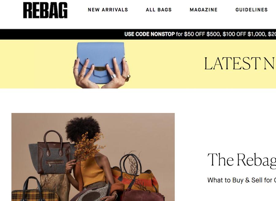 """用腻了就换!美国二手奢侈品包袋寄售网站 Rebag 推出手袋""""无限换新""""服务"""