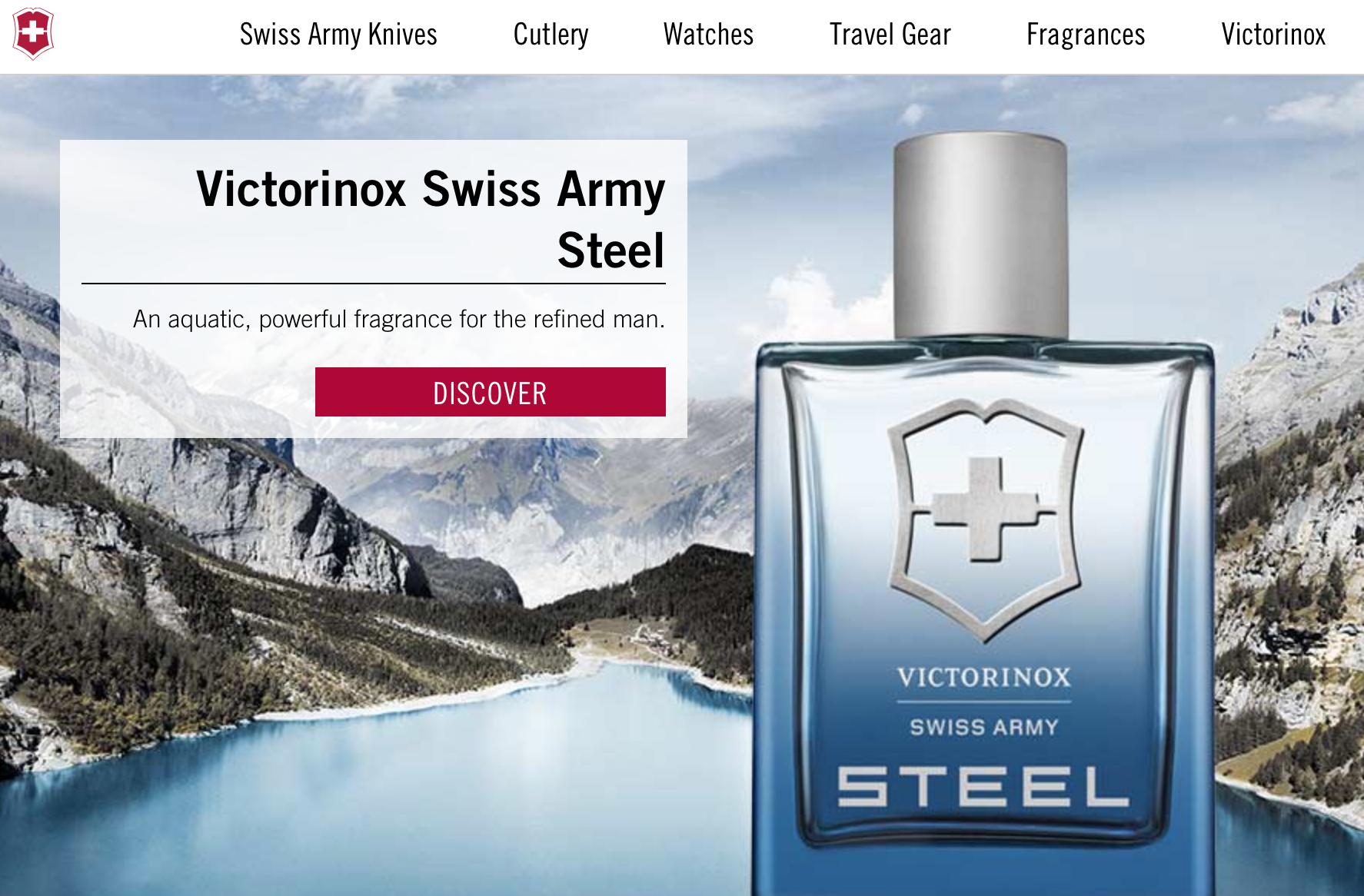 """瑞士军刀品牌 Victorinox 与军方达成和解协议,获准以""""Swiss Army""""的名义销售香水"""