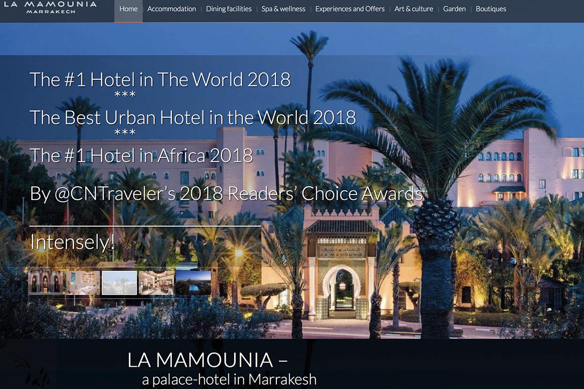 世界上最具历史意义的酒店之一:马拉喀什皇宫酒店 La Mamounia控股权将被摩洛哥政府出售